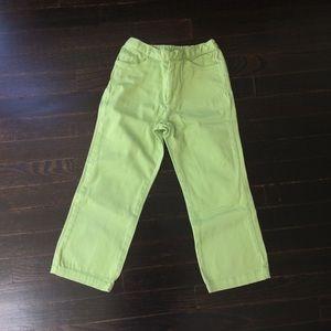 Bright green capris